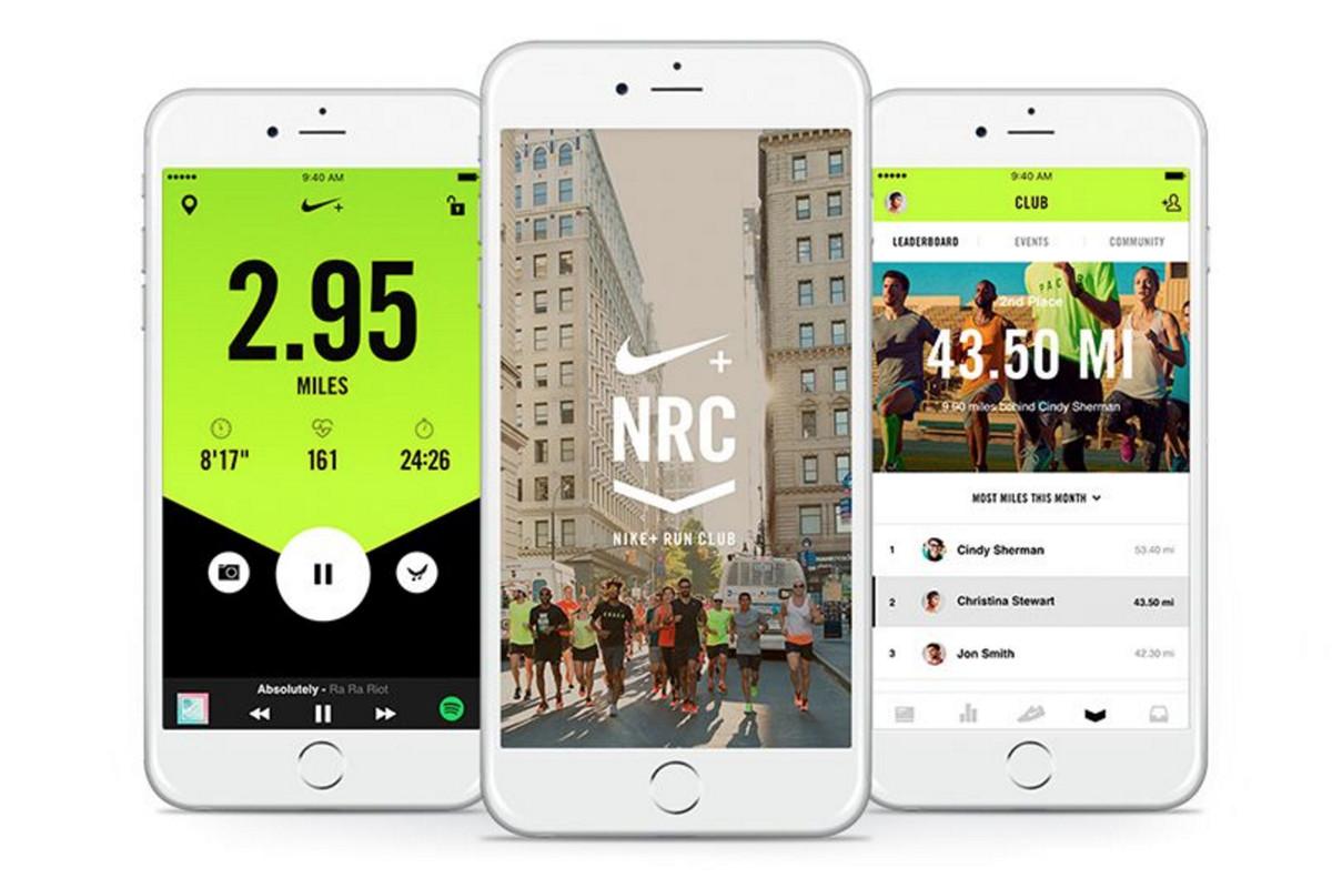 Telas do app Nike Running