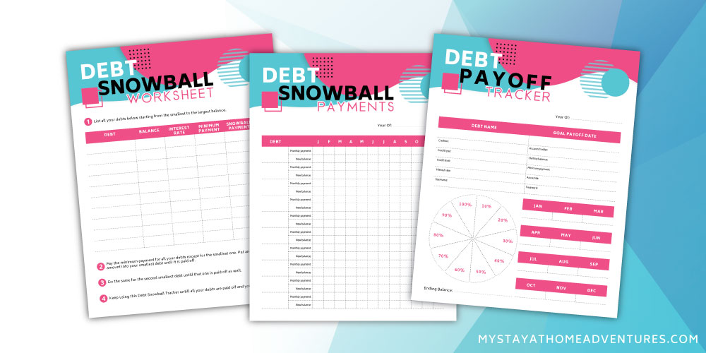 It's just a picture of Free Printable Debt Snowball Worksheet for planner