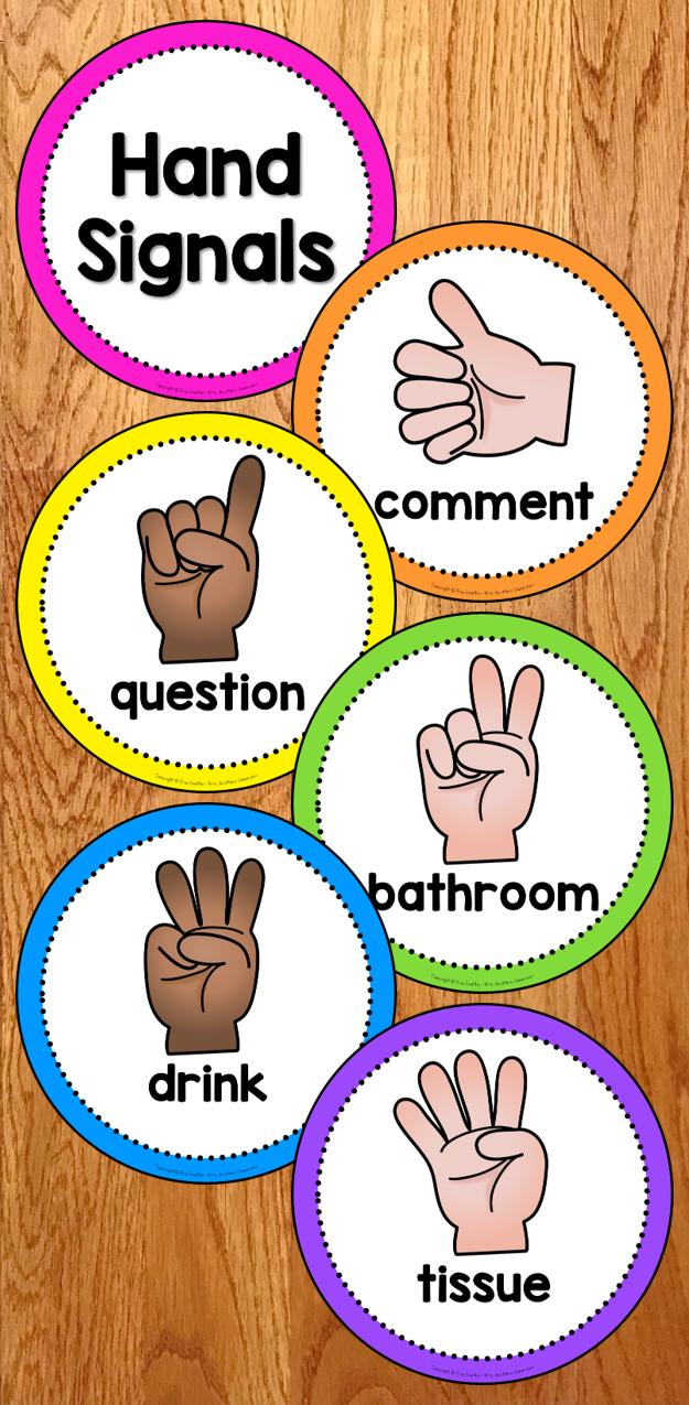 FREE Hand Signals Display