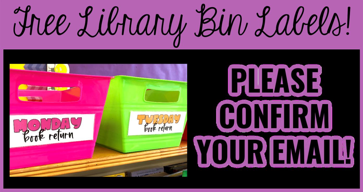 FREE Classroom Library Book Quarantine Labels