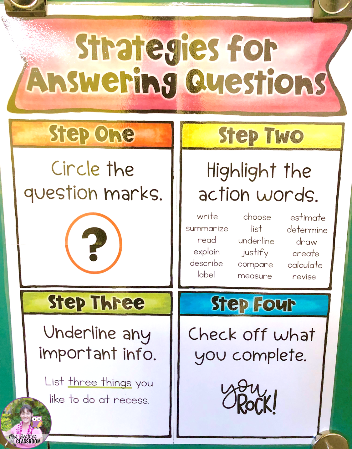FREE Strategies for Answering Questions Poster