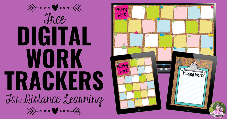 FREE Digital Work Trackers for Distance Learning