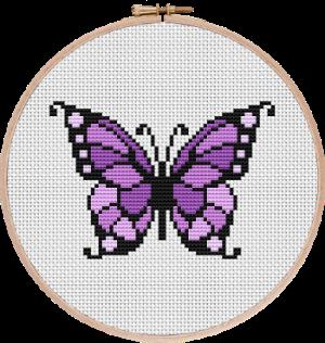 Beautiful Butterfly Cross Stitch Pattern
