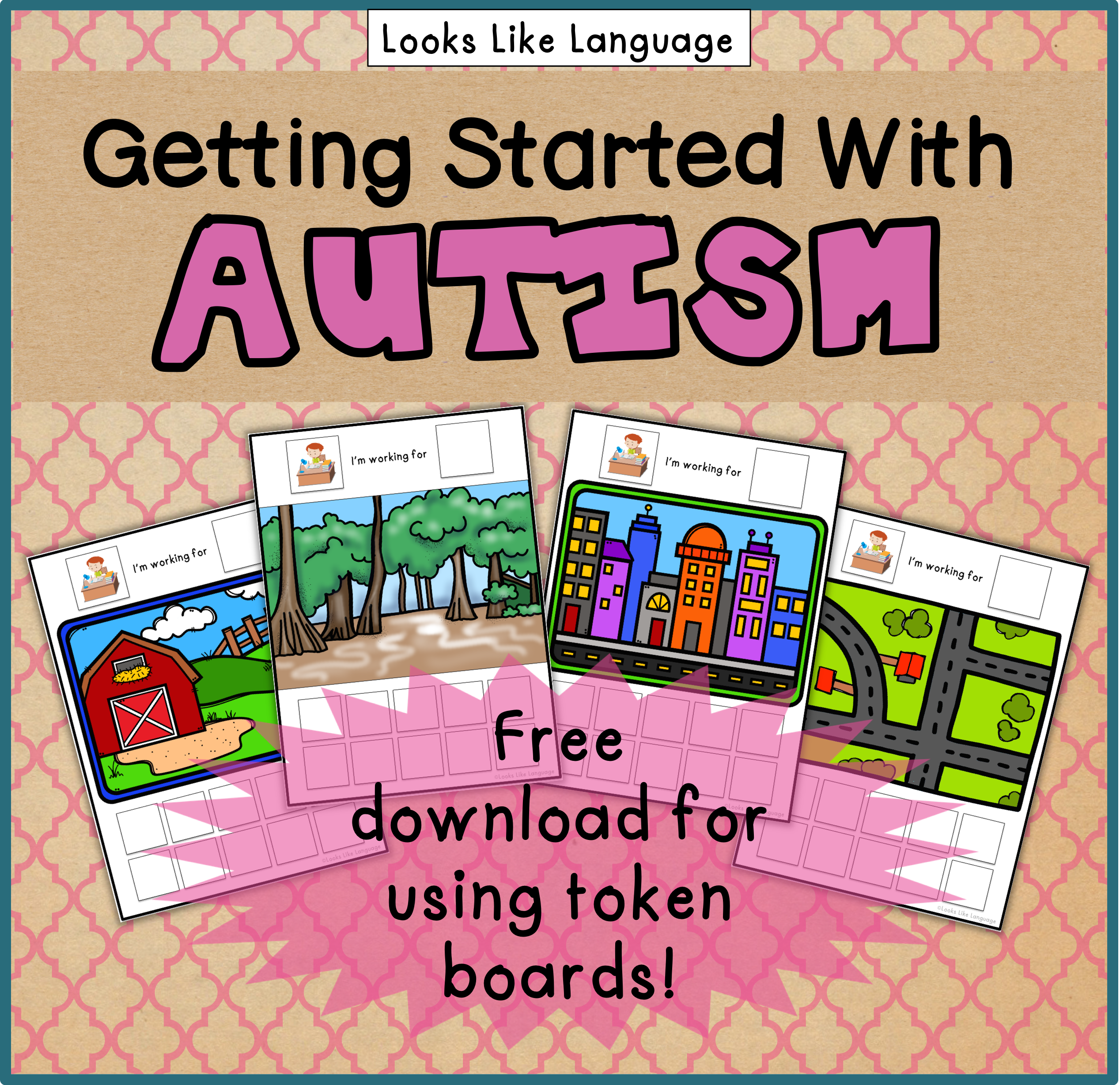 A free guide to get you started with Autism from Looks Like Language!