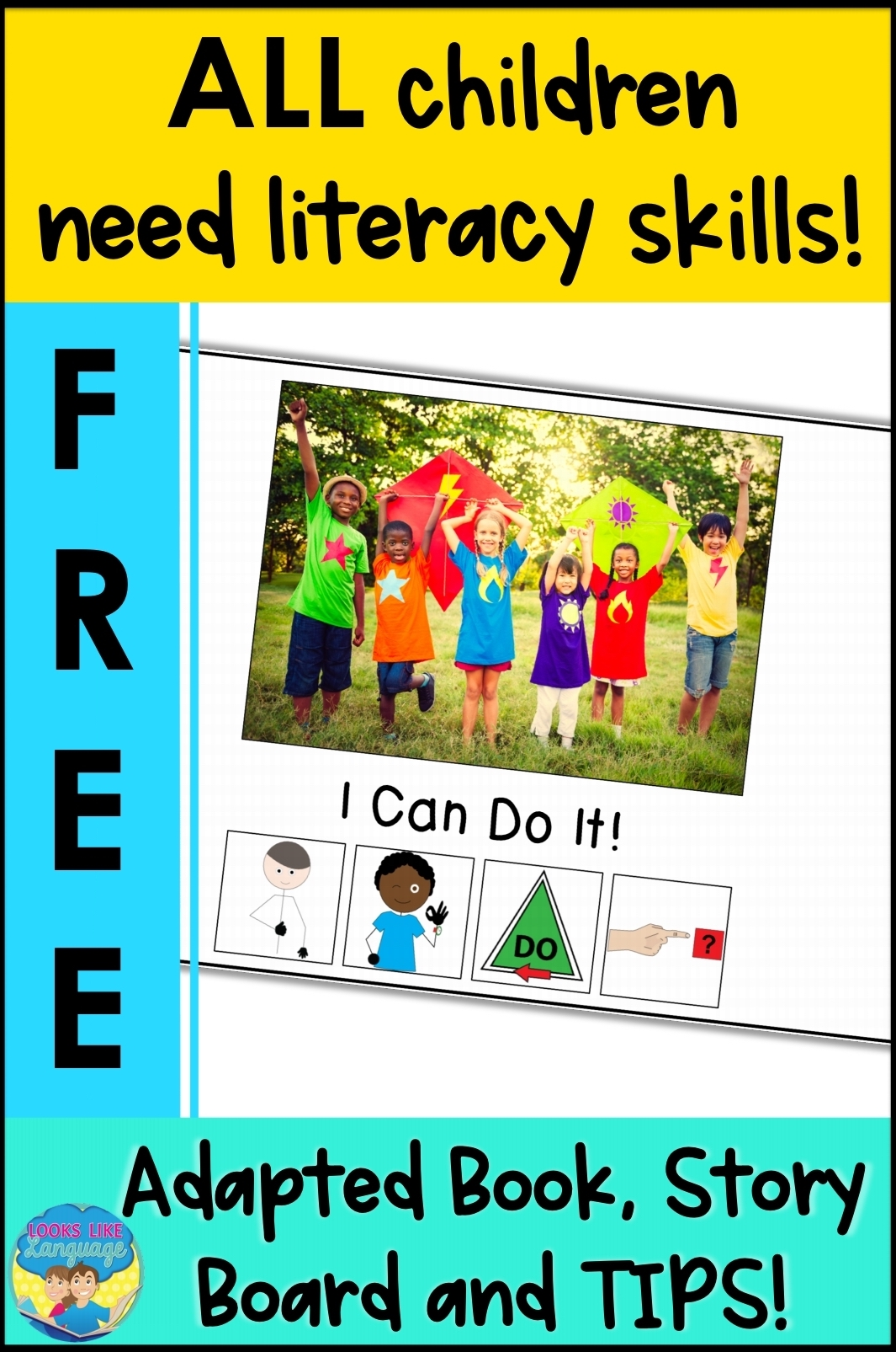 free download, adapted literacy skills, speech therapy