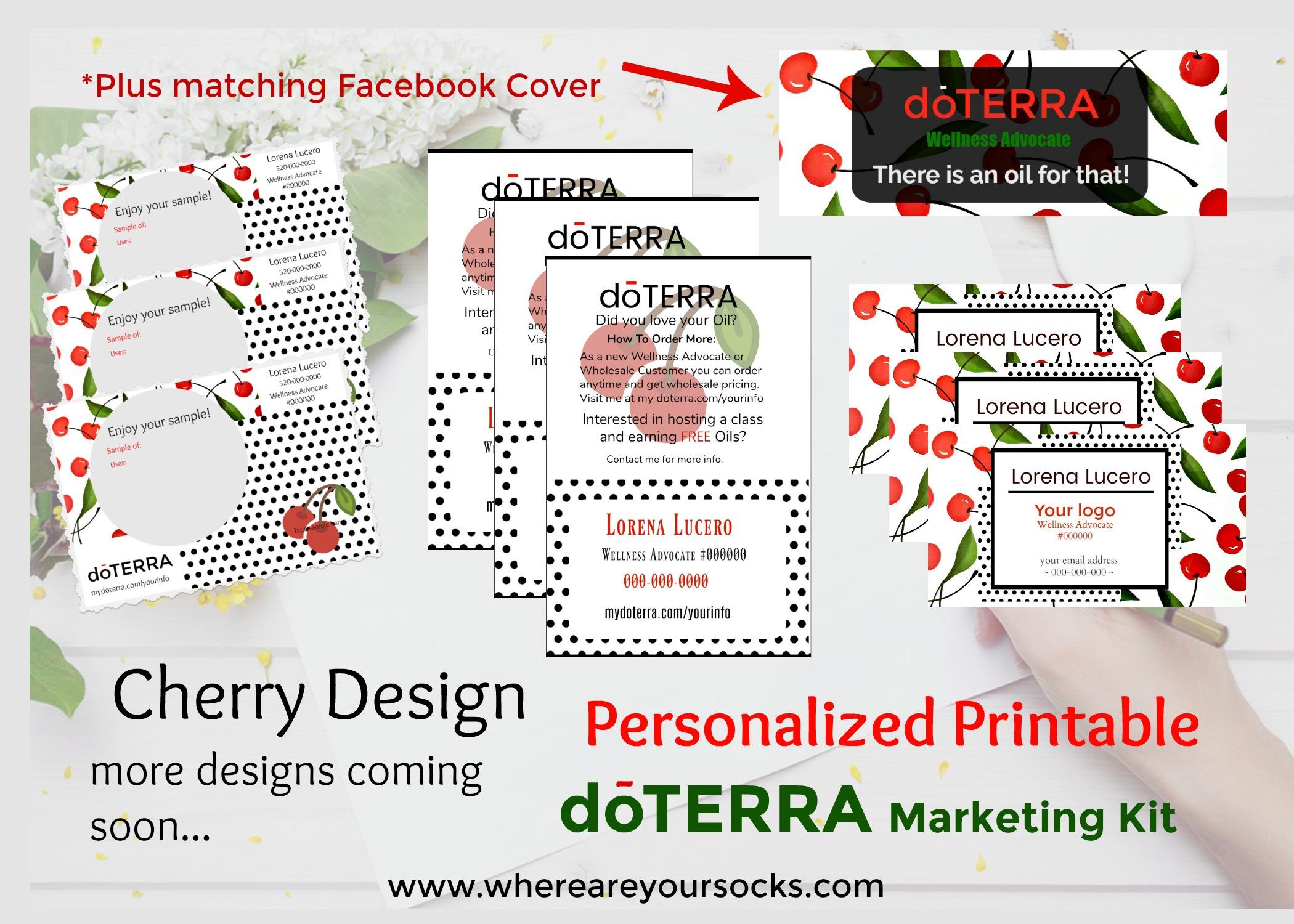 cherries personalized printable marketing kit