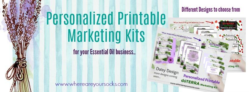 personalized printable marketing kits