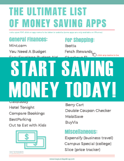save money, apps, coupons