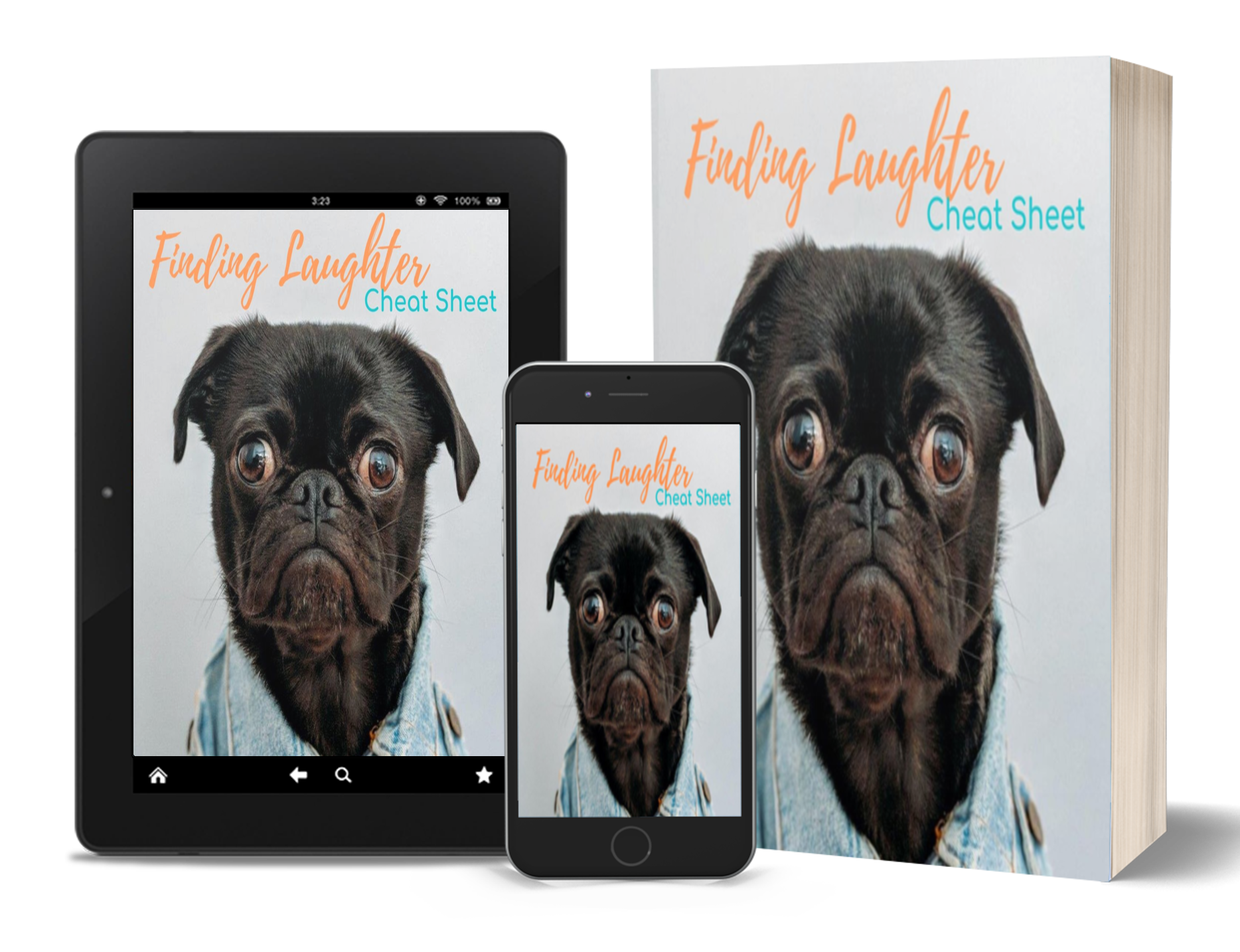 Finding Laughter Freebie - happy dog face