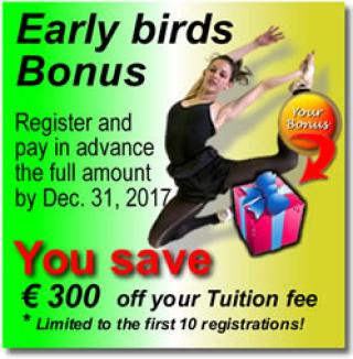SIBA Early Bird Bonus - Save 300 Eu.