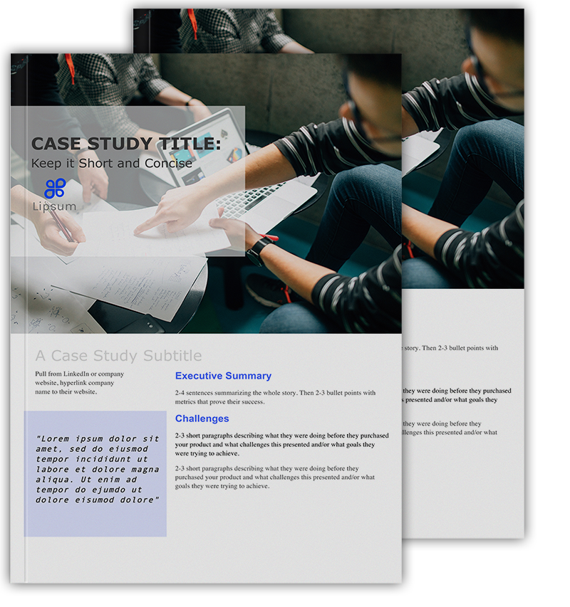 B2b Case Study Template By Pile