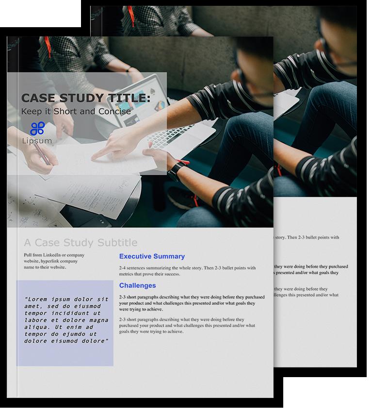 B2b case study template by pile b2b case study template maxwellsz