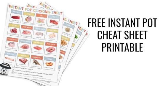 photograph relating to Instant Pot Cheat Sheet Printable known as Fast Pot Cheat Sheet Printable