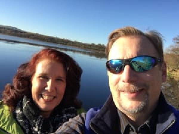 Chris & Lisa Cree at a Scottish loch