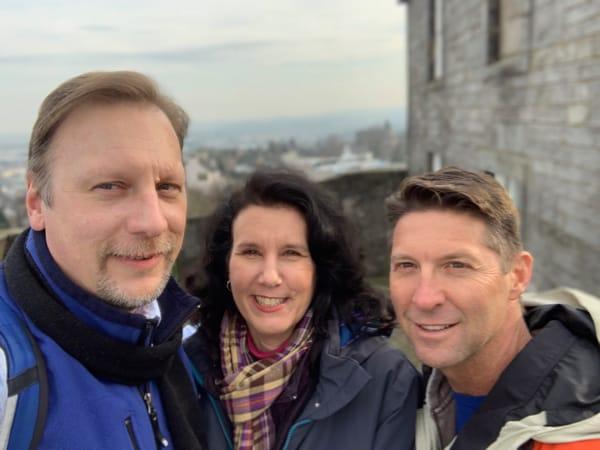 Chris and Lisa with Danon Winter