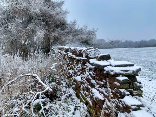 Stone Wall Snow
