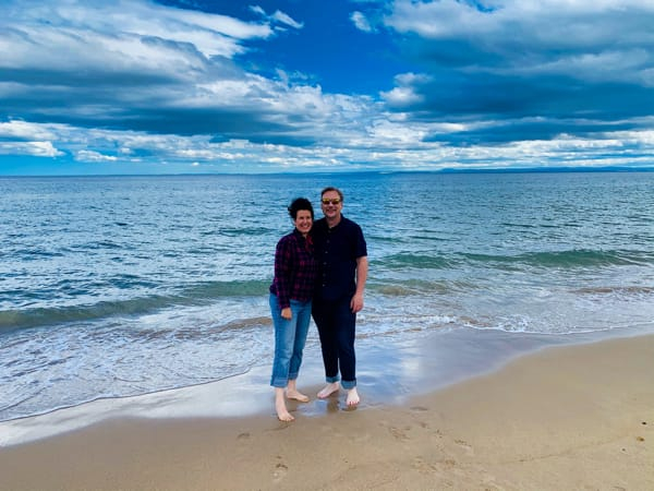 Chris and Lisa on a Highlands Beach