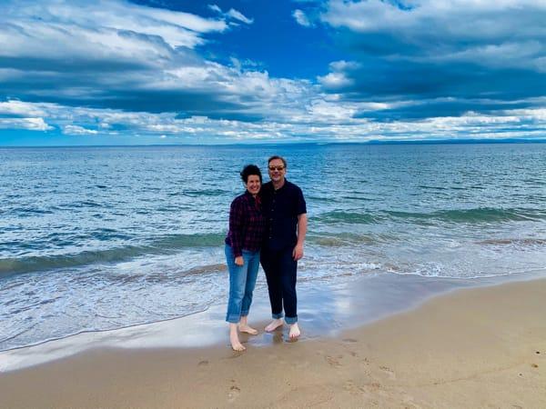Chris and Lisa on a Highlands Beach