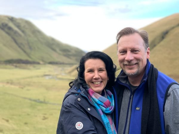 Chris & Lisa Cree in the Scottish countryside