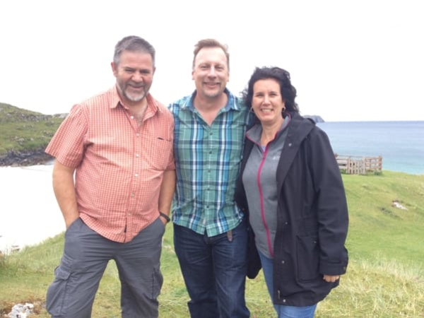 Pastor Donnie Stewart with Chris and Lisa