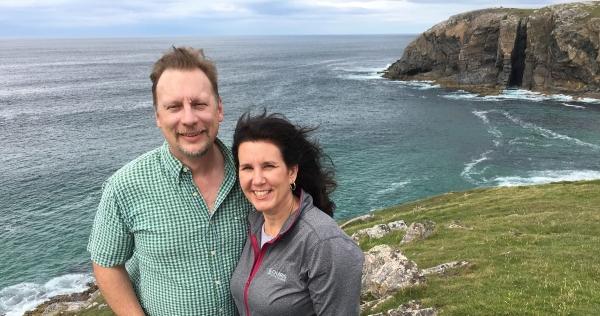Chris & Lisa on the Isle of Lewis