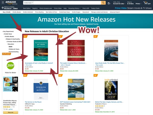 Amazon top spot - Wow!