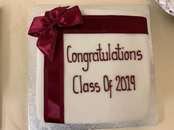 Class of 2019 cake