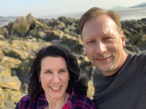 Chris & Lisa Cree on the Scottish coast