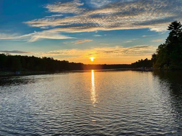 Wisconsin lake sunset