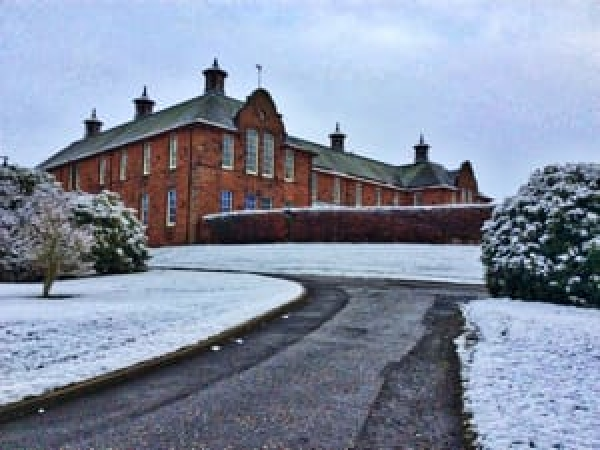 Charis Dumfries in the snow