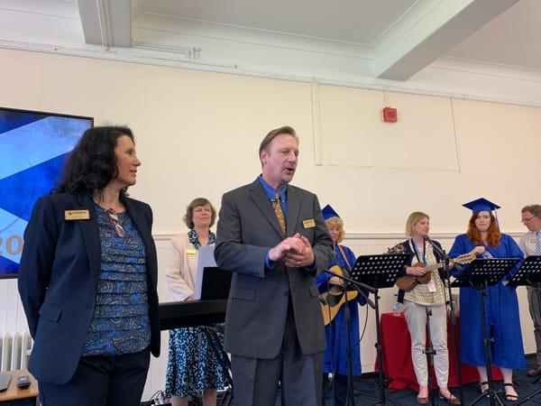Chris & Lisa at Charis Dumfries graduation 2019