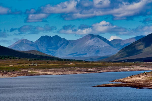 Highlands shore with hills
