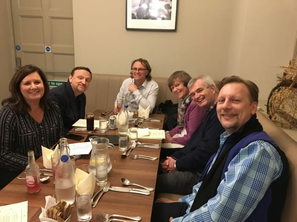 Dinner with McFarlands and the Charis Dumfries team