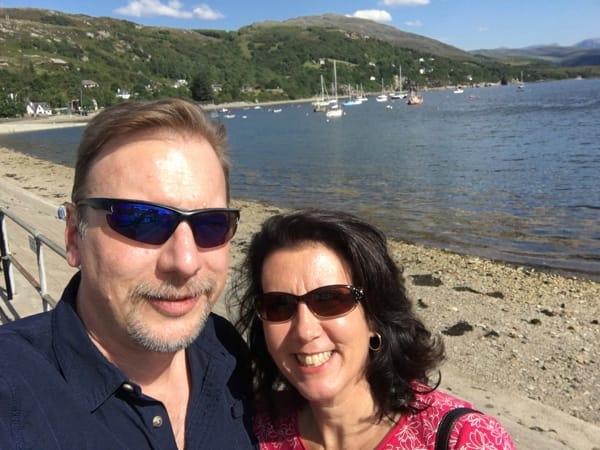 Chris & Lisa Cree in Ullapool